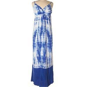 Beautiful nwot Gypsy 95 silk tie dye maxi dress